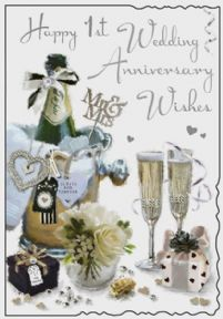On Your 1st Wedding Anniversary Card